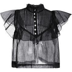 Natasha Zinko Sheer Lace Bra (675 CAD) ❤ liked on Polyvore featuring intimates, bras, sheer black bra, black bra, see through bras, sheer lace bra and sheer bra