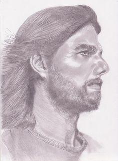 menggambar sketsa wajah tom cruise