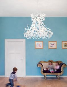 DE SNEEUWKONINGIN, DAY NURSERY, BUSSUM, NL    The white Icy Lady chandeliers provide for a fairytale-like atmosphere at the day nursery De Sneeuwkoningin.