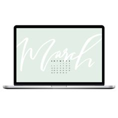 Hi guys! As you know, I love making free stuff for you to enjoy, so I  thought it would be fun to add a new monthly freebie to the mix. How's a  desktop wallpaper calendar for ya? This one's for March (which starts  tomorrow, by the way... can you believe it?).  Just click the button below to s