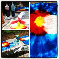 DIY Colorado tie-dye! The only tie-dye shirt you will ever catch me wearing.