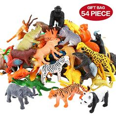 Animals figure 54 piece mini jungle animals toys set valefortoy realistic wild vinyl plastic animal learning party favors toys for boys girls kids toddlers forest small animals playset cupcake topper ten plagues napkins passover decorations 20 pack Jungle Animals, Farm Animals, Small Animals, Wild Animals, Toys For Boys, Kids Toys, Animal Set, Animal Pics, Farm Animal Toys