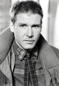 Harrison Ford is Rick Deckard in Blade Runner (1982). Love the movie, love the actor (first crush).