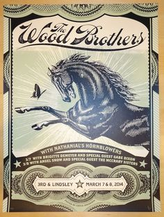 2014 The Wood Brothers - Nashville Concert Poster by Status