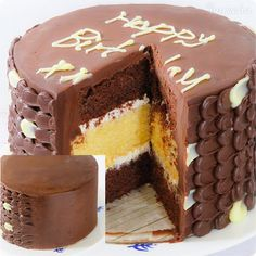 Torta s ganache polevou (videorecept) - recept   Varecha.sk Tiramisu, Dessert, Ethnic Recipes, Food, Greedy People, Deserts, Essen, Postres, Meals
