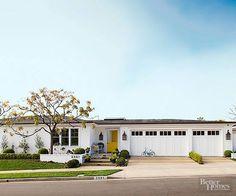 modern ranch? garage door rocks
