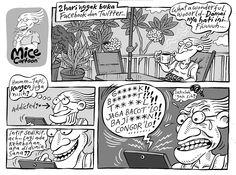 Mice Cartoon, Kompas 26 Oktober 2014: 2 Hari  Gak Buka Facebook & Twitter