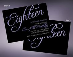 Hey, I found this really awesome Etsy listing at https://www.etsy.com/listing/181438311/18th-sparkle-birthday-invitations-with