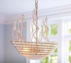 Crystal Ship Hanging Light | Pottery Barn Kids I am thinking boy = peter pan nursery??