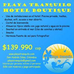 Disfruta de todo un exquisito día en Playa Tranquilo Hotel Boutique !!