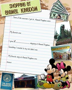 Animal Kingdom journal page