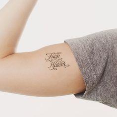 fuck haters temporary tattoo.