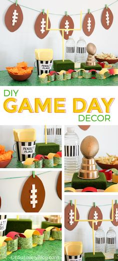 Oh So Lovely Blog DIY Super Bowl Football Party decor tutorials