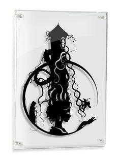 Rapunzel Tower // Fairy Tale Original shadow cut paper craft fairy tale surreal unique wall decor storybook art