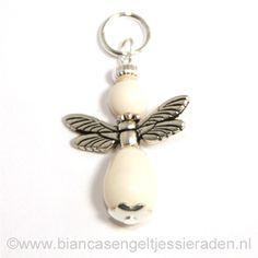 Hangertje Engeltje Vlinder Libelle Crystal Ivory Pear Ivory www.biancasengeltjessieraden.nl
