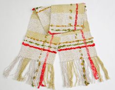 Hand Woven Scarf Jasmine Handwoven Scarves by Nadallina on Etsy