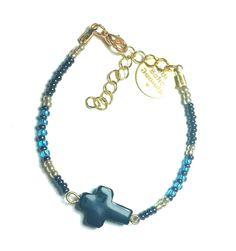 DW Boho Jewels Bracelet - believe in the black cross door DWBohoJewels op Etsy