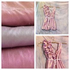 Girls Silk Dress Dupioni Above Knee Length Custom by SavoyFaire, $125.00