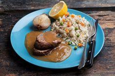 Μοσχαράκι λεμονάτο με πολύχρωμο ρύζι από την Αργυρώ Μπαρμπαρίγου | Αγαπημένη γεύση που αρέσει σε όλη την οικογένεια. Απ'τις πιο νόστιμες συνταγές με μοσχάρι