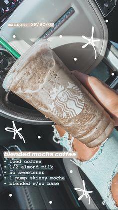 Low Carb Starbucks, Starbucks Hacks, Healthy Starbucks Drinks, Starbucks Secret Menu Drinks, How To Order Starbucks, Vegan Starbucks, Iced Mocha Coffee, Starbucks Iced Coffee, Healthy Coffee Drinks