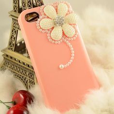 Pearl flower helado basic cover cell phone case  for iphone4/4S On special sale good quality. $9.99, via Etsy.