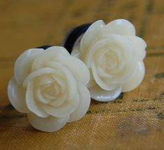 Rose organic plugs... Beautiful.