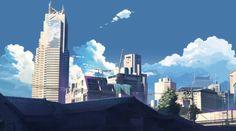 01:30:55 パークハイアット東京と都庁 ★2009年9月25日、画像解析とそれまでの現地観察から、この辺りであると判断。 第1話、「陽炎の向こうの高層ビルも・・・」のシーン。 劇中カットは駅前マンションの屋上から見た風景と思われるが、部外者立入禁止のため撮影不可。 普通に撮影可能な場所で、劇中カットに最も似た風景が見えるのはこの辺り。
