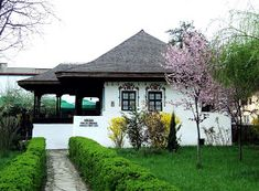 Village House Design, Village Houses, Village Photography, Cabin House Plans, Little Cottages, Bucharest Romania, Modern Landscaping, Architecture Plan, Beautiful Buildings
