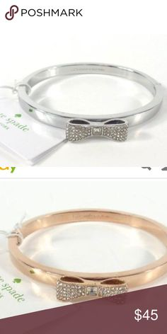 Kate spade ready set bow bracelet nwt Brand new silver Kate spade bracelet. Has a bow with diamonds. Comes with tags and dust bag. kate spade Jewelry Bracelets