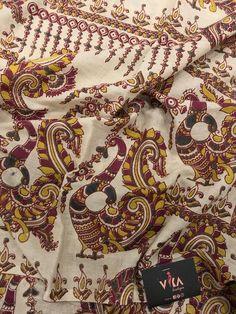 Printed Kalamkari cotton saree with printed blouse PC with rich pallu