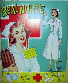 Hollywood Movie Star Paper Dolls | Authentic Vintage Paper Dolls Real Nurse Movie Star Secretary Artist ...