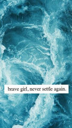 never settle again