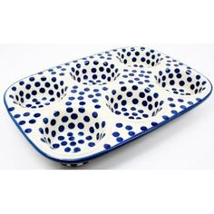 Polish Pottery Muffin Pan. Won't this look great in photos?