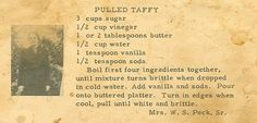 Roots from the Bayou : Family Recipe Friday - Pulled Taffy