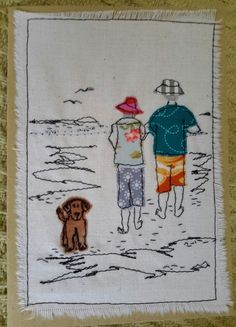 This, that and everything inbetween Freehand Machine Embroidery, Free Motion Embroidery, Free Machine Embroidery, Embroidery Applique, Embroidery Stitches, Fabric Cards, Fabric Postcards, Sewing Appliques, Applique Patterns