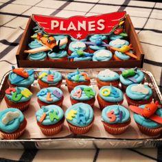 #planes #disney #birthday #boy #color #fun #cloud #skyblue #sky #babyblue #blue #airplane #cupcake #sweet #sugar #dessert #kid #children #party #madebyme Disney Birthday, Baby Blue, Airplane, Planes, Children, Kids, Cloud, Cupcake, Party Ideas
