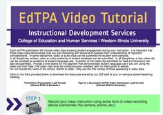 Interactive Step-by-Step video based tutorial for EdTPA.