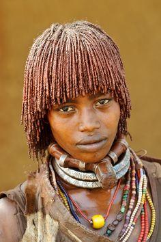 Hamer woman of Turmi Africa byRudolf Hug, Photography