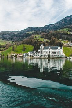 A beautiful day on the water in Lake Lucerne, Switzerland.