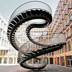 #Endless stairs in #Munich  #Umschreibung #infinite walking around a #Sphere