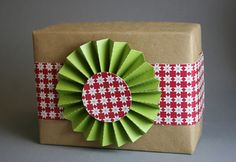 Rosette bow made with diy paper die cut