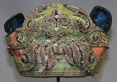 Old tribal exotic chinese Dong people's hand embroidery child hat