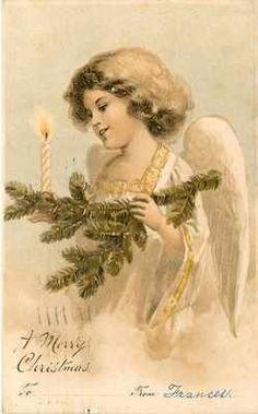 vintage Christmas graphic/image:
