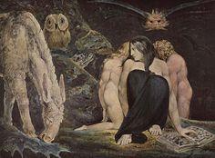 1795.William Blake.The Night of Enitharmon's Joy.Геката.44×58 cm.Tate Gallery.
