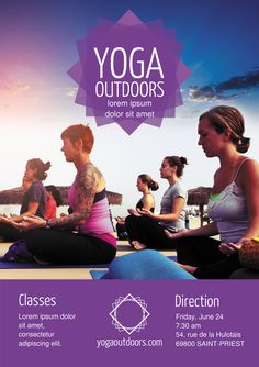 Yoga A5 Promotional Flyer Premadevideos