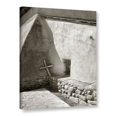 ArtWall Steve Ainsworth Pilgrim's Cross Gallery-Wrapped Canvas, Size: 36 x 48, White