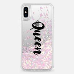 Casetify iPhone X Liquid Glitter Case - Queen girl boss case by Priyanka Chanda