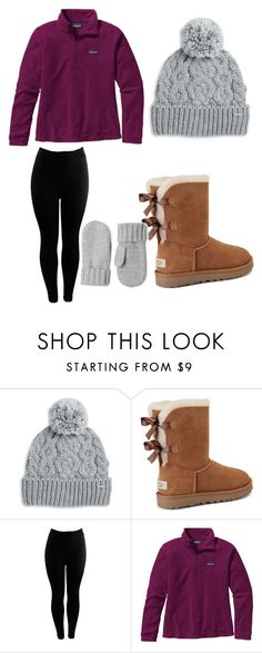 """""""Snow day contest!:)"""" by lexilynn2111 ❤ liked on Polyvore featuring Rella, UGG and Patagonia"""