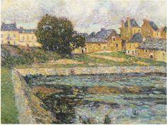 1911. Village at Bellay (Henri Le Sidaner)