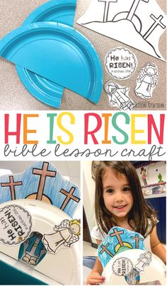 How to Teach Jesus Resurrection to Preschoolers. During spring and the Easter holiday While this lesson speaks to my heart and helps me to understand all that Jesus has done for us, I sometimes struggle with teaching this topic to children. Using this Jesus Resurrection craft along with a planned out bible lesson helped me to reach preschool learners as with this story.  - Mrs. Jones' Creation Station #BibleLessons #Easter